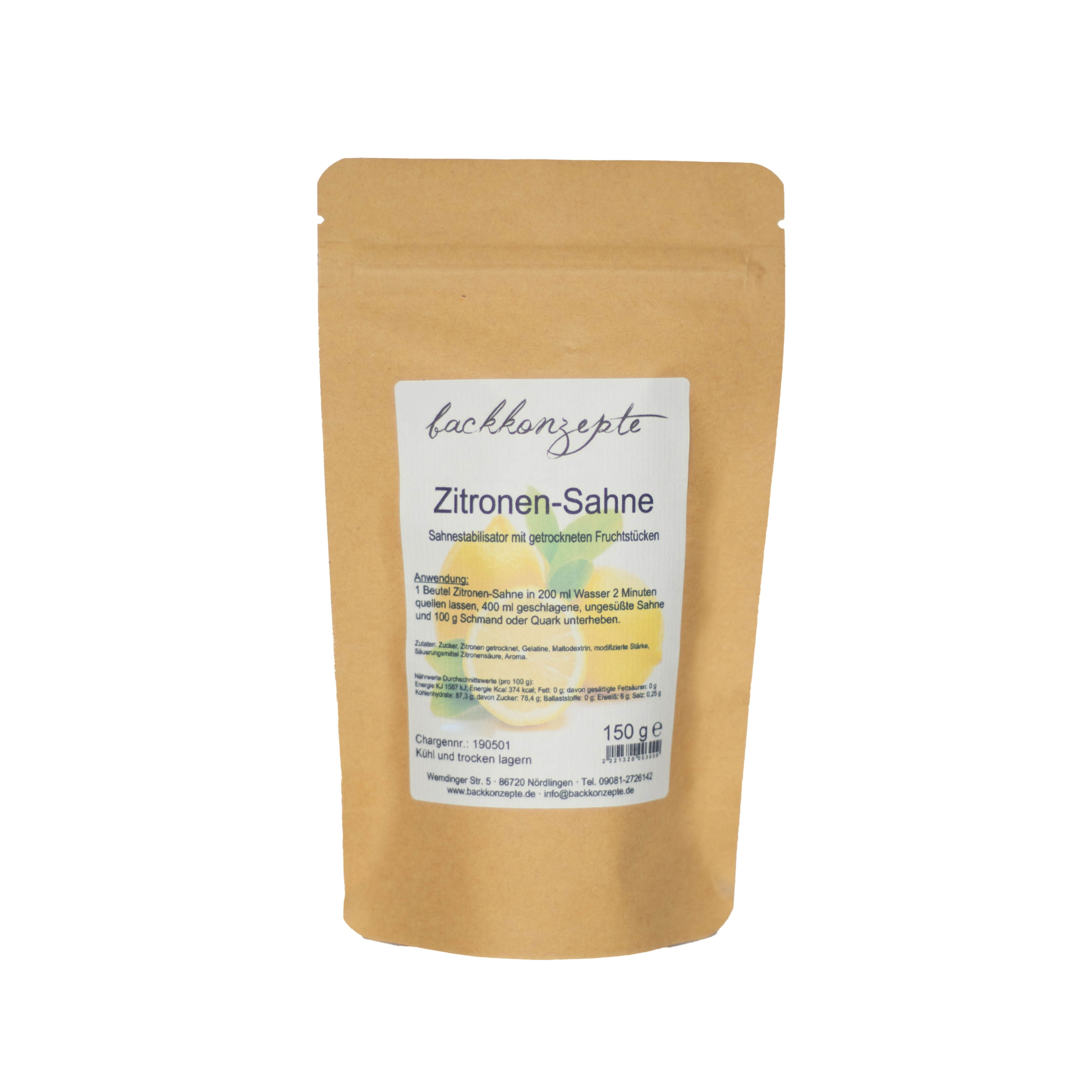 Zitronen-Sahne 150g